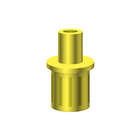 Foot valve icon design for plumbing and piping work. Vettoriali