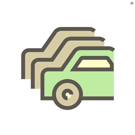 Used car vector icon design, 48X48 pixel perfect and editable stroke.