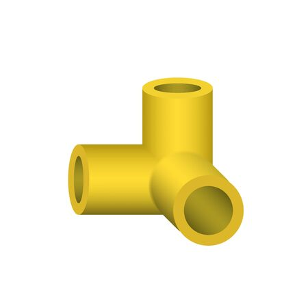 Vector icon of pipe fitting for plumbing and piping work.