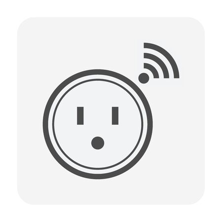 Timer plug vector icon design for smart home. Ilustrace