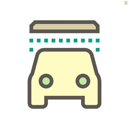 Car washing vector icon design, 48x48 pixel perfect and editable stroke.