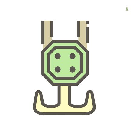 Crane hook icon, 64x64 perfect pixel and editable stroke. Ilustracja