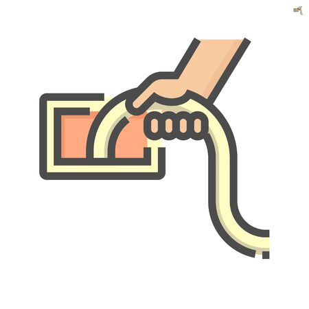 Air duct pipe and cleaning work icon, 64x64 perfect pixel and editable stroke .