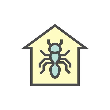 Insect problem vector icon design for home problem graphic design element, editable stroke.