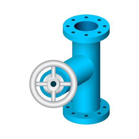 Steel pipe connector and valve icon set. Векторная Иллюстрация