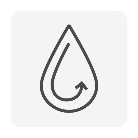 Clean water drop icon design,  water treatment and purification concept design, editable stroke. Illustration