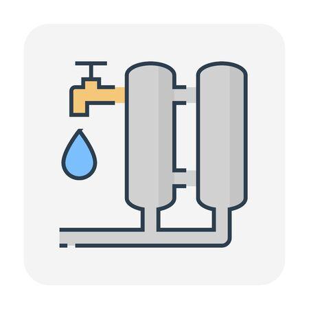 Water filter icon design, editable stroke. Vecteurs