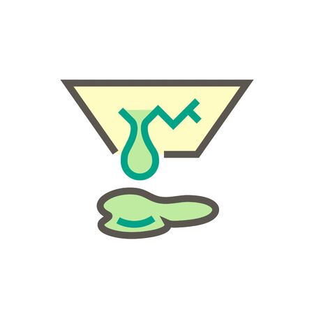 Ceiling damage and water leak vector icon design for home problem graphic design element, editable stroke.  イラスト・ベクター素材