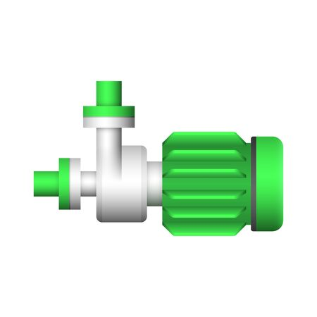 Water pump and steel pipe icon design.