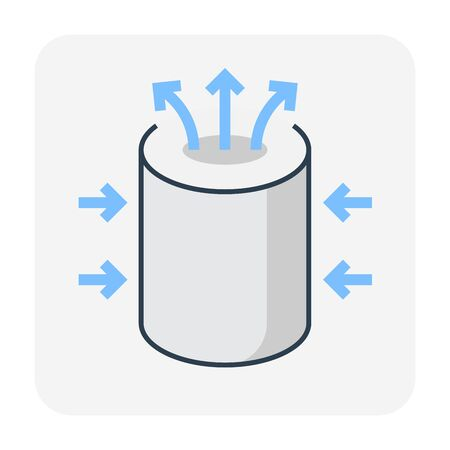 Water filtration and equipment icon, editable stroke. Illustration