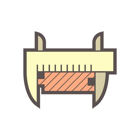 Wood flooring material and testing vector icon design.