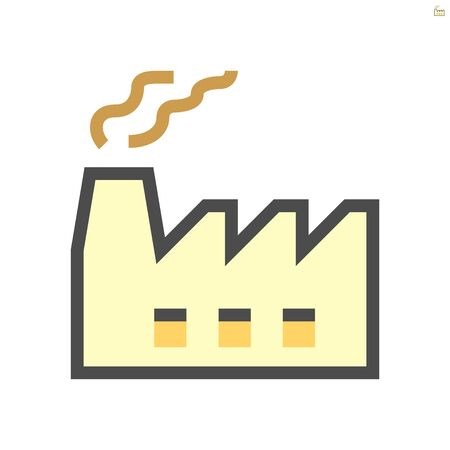 Factory cause of air pollution vector icon design, 48x48 pixel perfect and editable stroke.