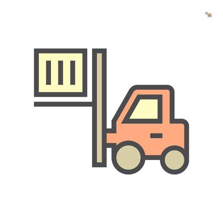 Forklift icon, 64x64 perfect pixel and editable stroke.