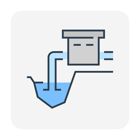 Water resource icon design, editable stroke.