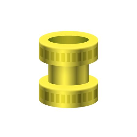 Vector icon of pipe connector for plumbing and piping work. Vettoriali