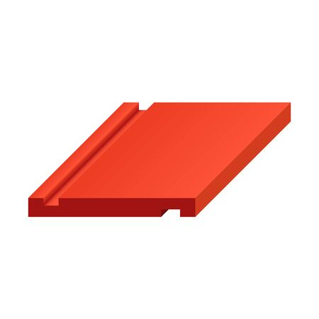 Roofing material or roof tile icon design.