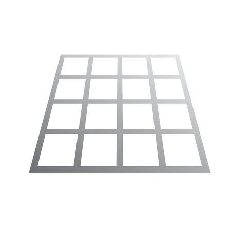 Wiremesh design isolated on white background.