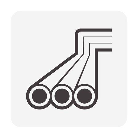 Wasserquelle und Wasserspeicherung und Pipeline-Icon-Set-Design.