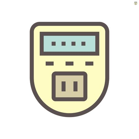 Timer plug vector icon design for smart home, 48x48 pixel perfect and editable stroke. Ilustrace