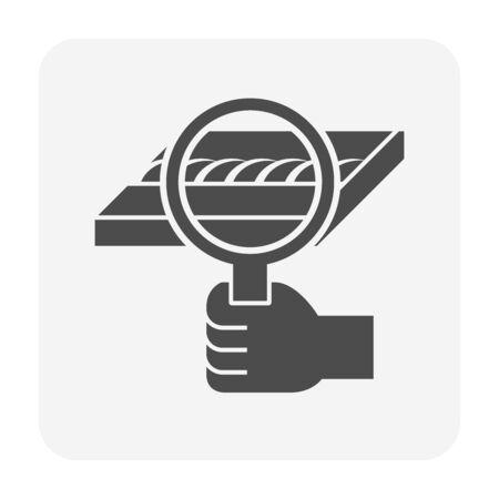 Welding test vector icon design for welding work graphic design element.