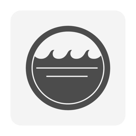 Clean water wave icon design,  water treatment and purification concept design.