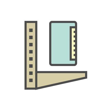 Air conditioner installation parts and tools vector icon design, editable stroke.