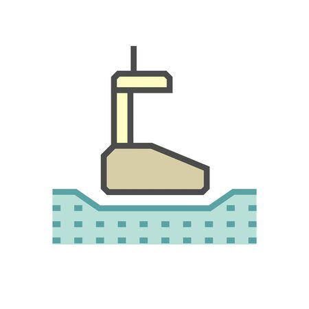 Geotechnical engineering and soil testing vector icon design.