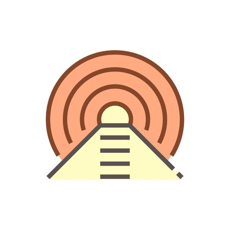Geotechnical engineering work or  tunnel vector icon design.  イラスト・ベクター素材
