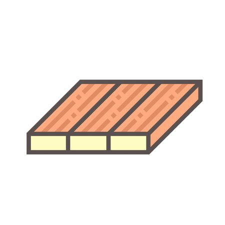 Wood floor and material vector icon design on white background.