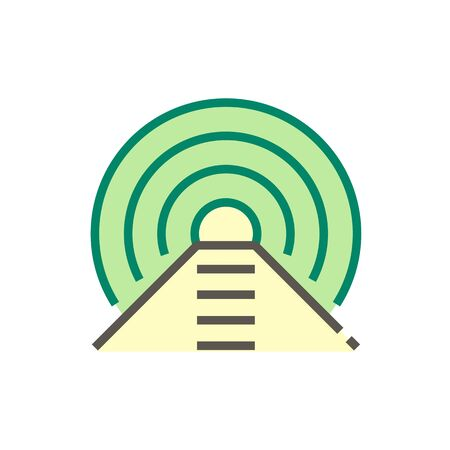 Geotechnical engineering work or tunnel vector icon design.