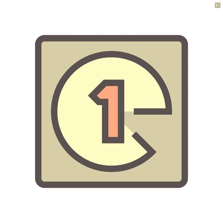 Film production count down  vector icon design,  48X48 pixel perfect and editable stroke.