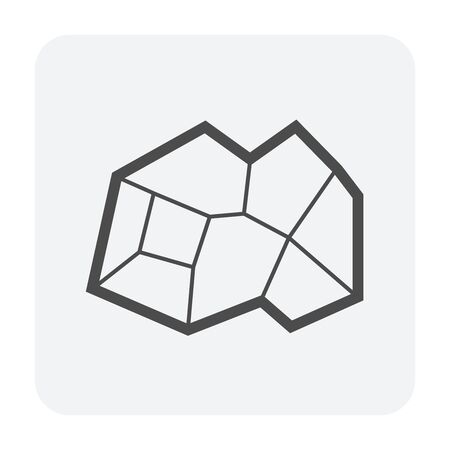 Ore material vector icon design on white background.