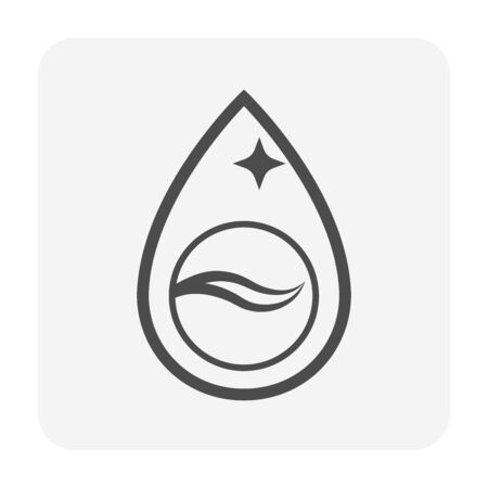 Clean water drop icon design,  water treatment and purification concept design. Illustration