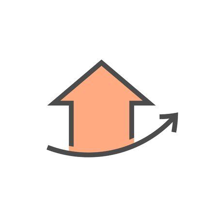 Immobiliengeschäft und Investitionen, die Vektor-Icon-Design aufwachsen.