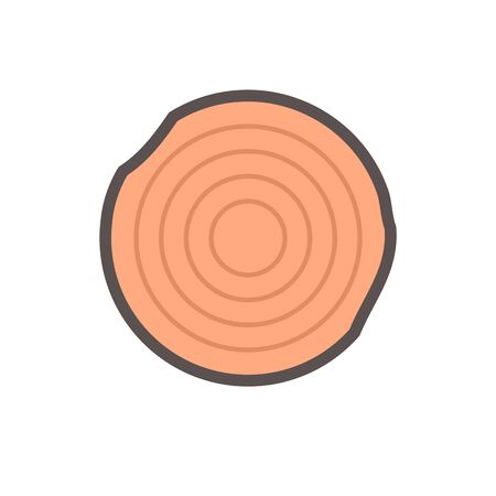 Lumber vector icon design on white background.