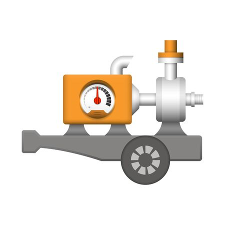 Water pump and engine icon design.
