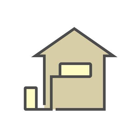 Air conditioner installation tool vector icon set design, editable stroke.