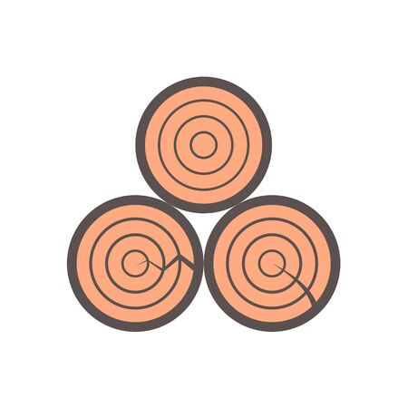 Wood material and sawmill industry vector icon design on white background.