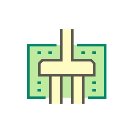 Geotechnical engineering and foundation vector icon design. Illustration