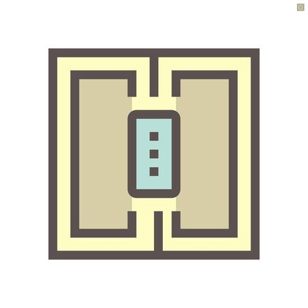 smart home and automatic door control technology vector icon design, 48x48 pixel perfect and editable stroke.