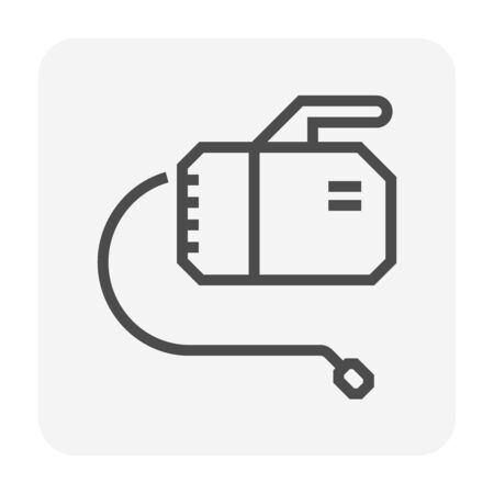Air conditioner cleaning and tools icon design, editable stroke.