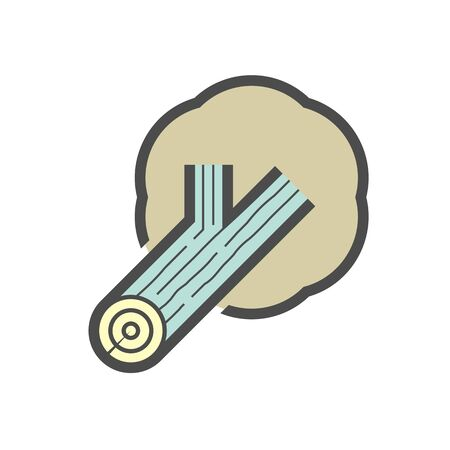 Plywood material and production industry vector icon design on white background.