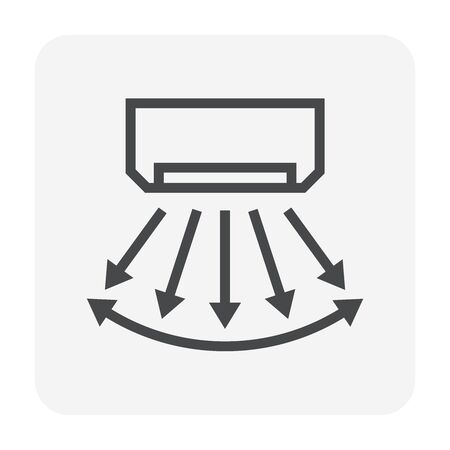 Air flow of air conditioner icon design, editable stroke. Illustration