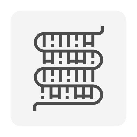 Air conditioner coil dirty condition icon design, editable stroke.