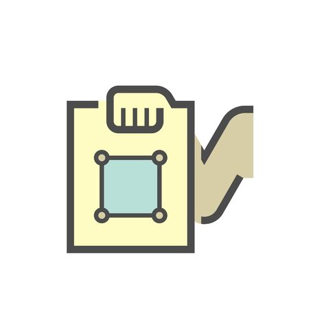 Land possession documents vector icon design.