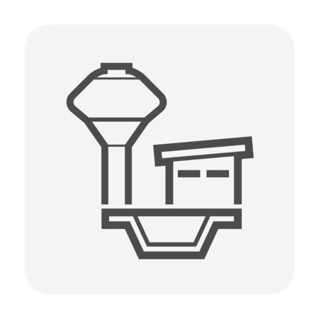 Water tank vector icon design for water work graphic design element.