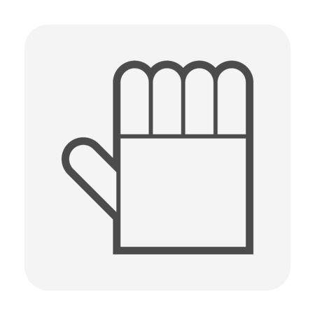 Welding gloves vector icon design for welding work graphic design element.