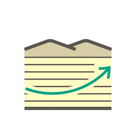 Land investment growing up vector icon design. Vektoros illusztráció