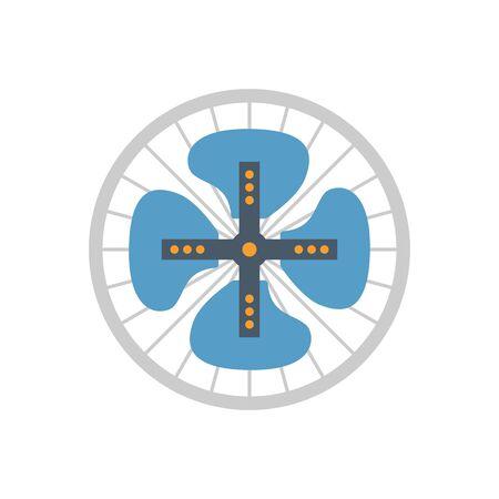 Fan blade icon design.