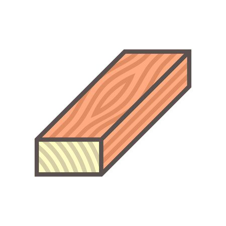 Wood floor construction material vector icon design on white. Ilustracja